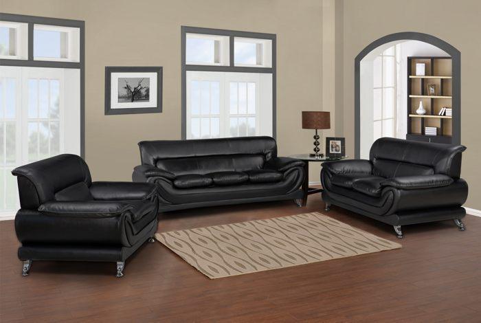 Direct Furniture Corp Atlanta & Duluth GA Black Sofa